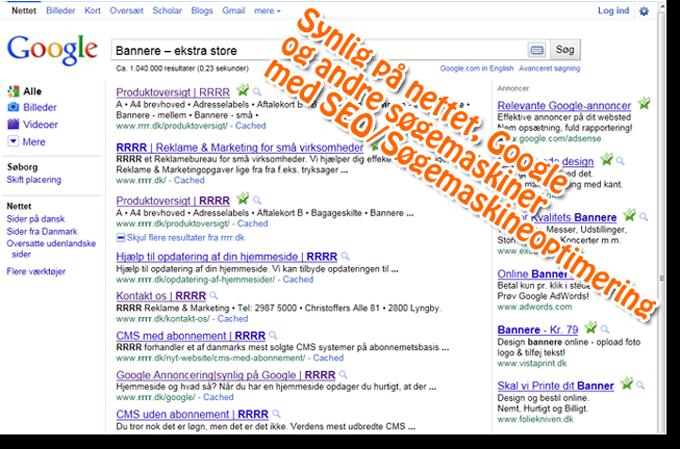 SEO, Søgemaskineoptimering, search engine optimization, optimering af hjemmeside, synlig på nettet, til at finde, i toppen af google, søgehits, søgeoptimering, søgeord, søgeordsbeskrivelser